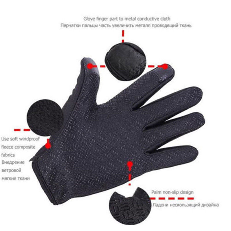 Fanala Gloves Touch Screen Windproof Outdoor Sport Glove For Men Women Army Guantes Tacticos Luva Winter Windstopper Gloves Apparel Accessories