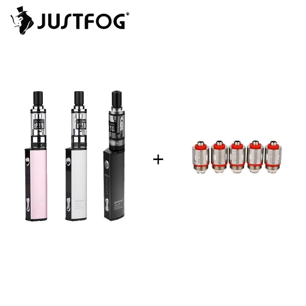 900 mAh Original Justfog de Q16 Kit con 1,9 ml Justfog Q16 Clearomizer, y 8 nivel de voltaje Variable 900 mAh de la batería E-cig