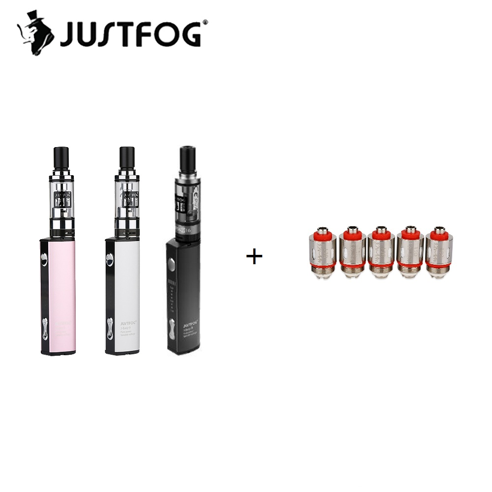 900 mah Original Justfog Starter Q16 Kit mit 1,9 ml Justfog Q16 Clearomizer & 8 Level Variable Spannung mit 900 mah Batterie E-cig