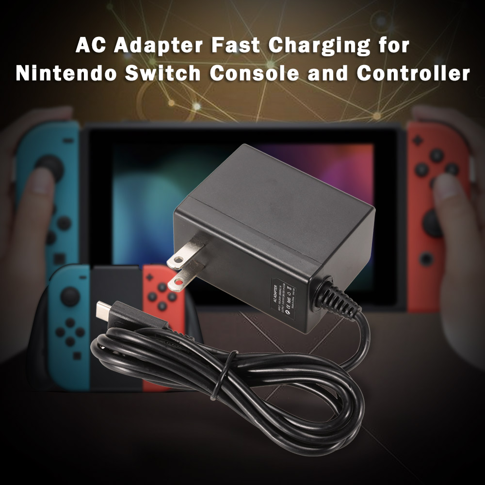 AC Adapter Normal/Fast Travel Charging Power Supply for Nintendo Switch Console and Controller Gaming Brinquedos for Boys Gift