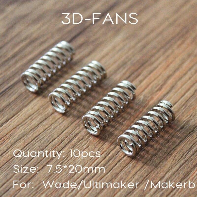 10Pcs 3D Printer Extruder Heated Bed Spring For Ultimaker 2 Makerbot Wade Extruder