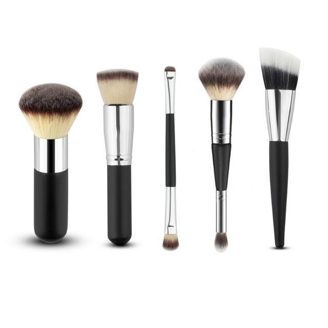 5 Pcs/style Cosméticos Blush Em Pó Foundation Beleza Sombra Blush Pincéis de Maquiagem Profissional Definida Kit Acessórios de Alta Qality