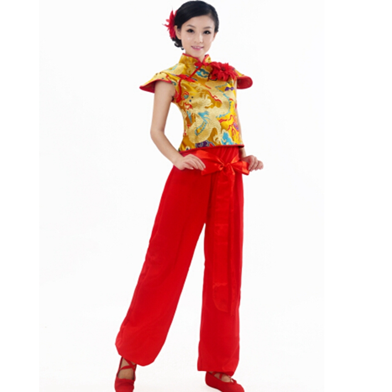 chinese yangko dance costumes Chinese Folk Dance Costume Traditional Chinese Fashion Clothing  Chinese Dynasties with headdress