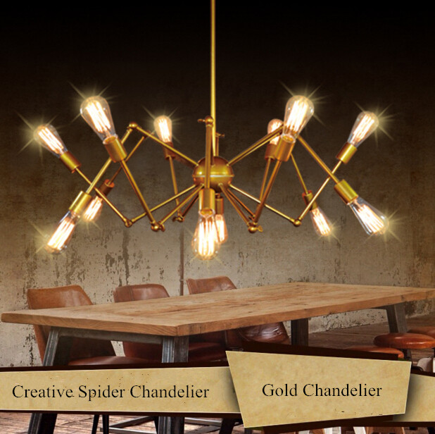 12 heads northern europe artist high grade gold spider living room 12 heads northern europe artist high grade gold spider living room chandelier luxury hotel engineering chandelier free shipping in pendant lights from aloadofball Images