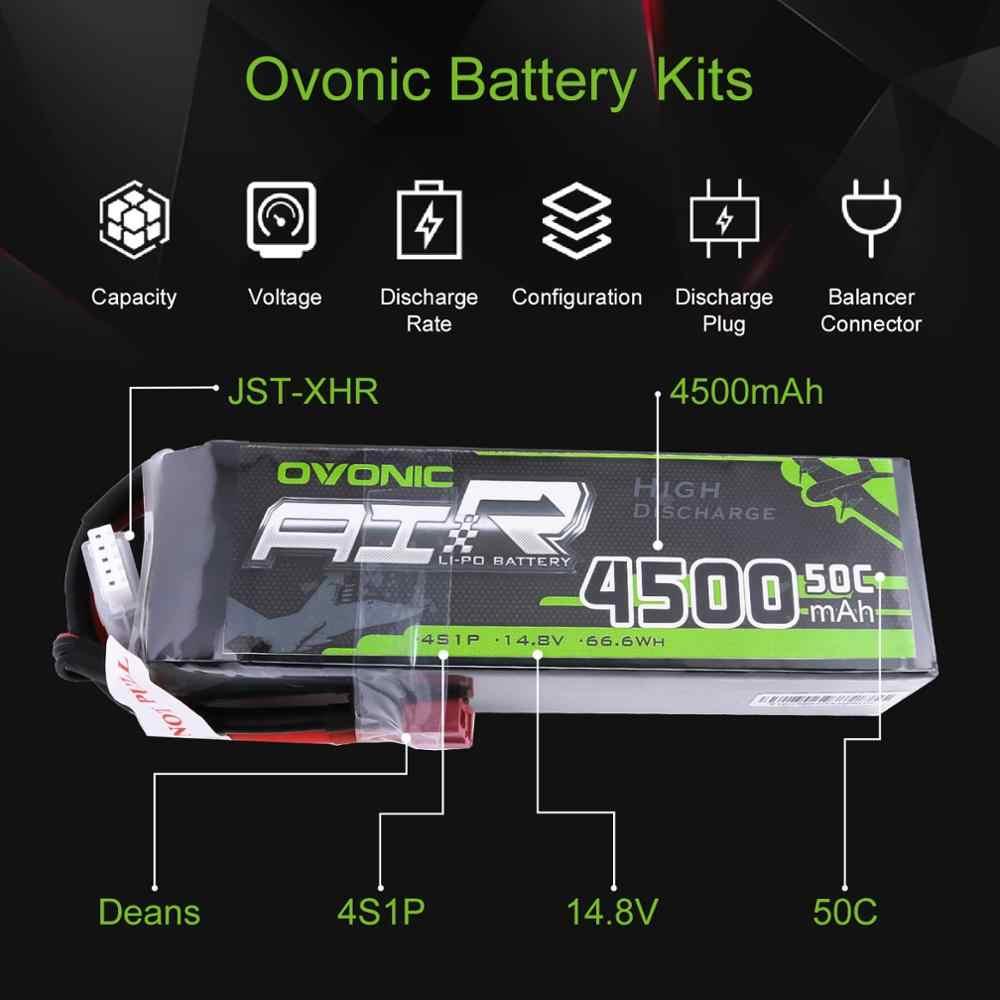 2X овоник LiPo Батарея 4500 mAh 14,8 V LiPo 4S 50C-100C Батарея пакет Т Разъем XT60 разъем для 1/8 1/10 RC автомобилей Хели Quadapter 3D