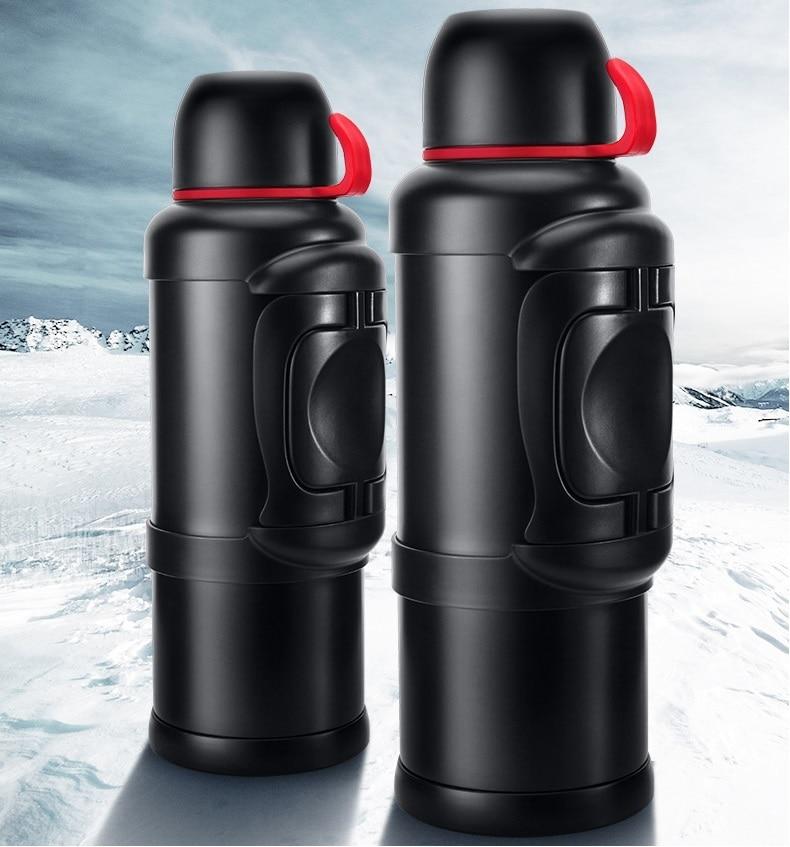 สแตนเลสสตีล Thermos ขวด 1L/2L Outdoor Travel แก้วกาแฟความร้อนขนาดใหญ่ความจุสูญญากาศน้ำขวดความร้อนแก้ว-ใน ขวดสูญญากาศและภาชนะเก็บความร้อน จาก บ้านและสวน บน AliExpress - 11.11_สิบเอ็ด สิบเอ็ดวันคนโสด 1