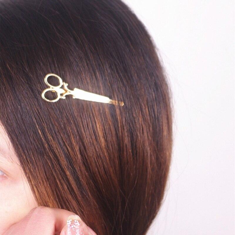 Fashion Gold Silver Pineapple Charm Hair Clip Braette Hairpin Hair Accessory
