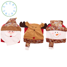 Christmas Decorations For Home Santa Claus Snowman Elk Chair Covers Dinner Table Party Back