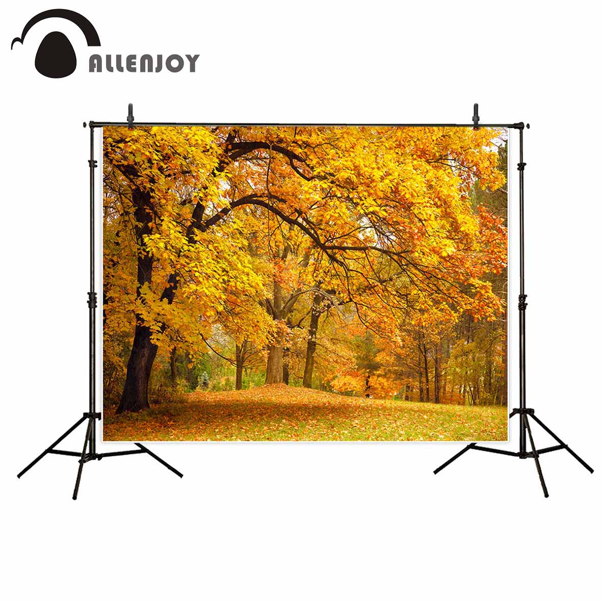 Allenjoy vintage photographic background Autumn forest leaves natural landscape fantasy backdrop photography photocall props