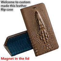ND08 genuine leather flip case for Nokia 6 TA 1000 phone case for Nokia 6 back cover free shipping