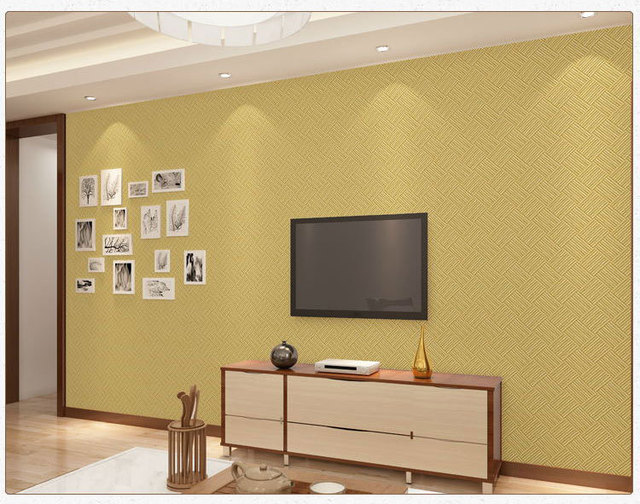 country style knit rattan weaved Tatami Wall Paper Roll Green Non ...