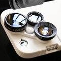 Nova Combinação 4 em 1 Clipe Lente Do Telefone Móvel No Olho de Peixe camera lens + grande angular + macro + 2x de zoom para iphone 6 6 plus 6 s 6 s além de