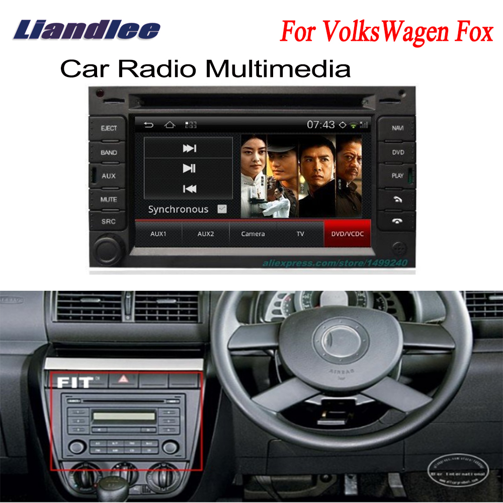 liandlee 2 din car gps for volkswagen vw fox 2003 2011. Black Bedroom Furniture Sets. Home Design Ideas