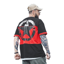 Mens T-Shirts Cotton Short Sleeved T Shirt Tee Tops Stars Print Patchwork Half Loose-Fitting Women T-Shirt Plus Size 7XL