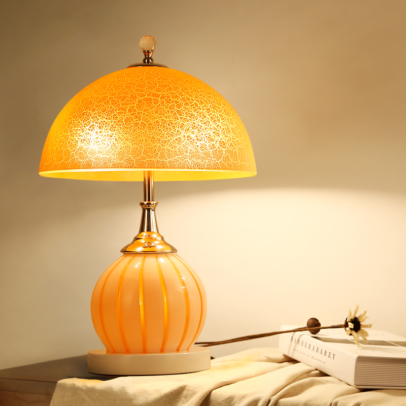 double switch warm table lamp