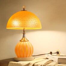 Doppelschalter Warme Tischlampe Glas Krper Stoff Lampenschirm Retro Stil Fr Schlafzimmer Wohnzimmer Nachttischlampen Nach