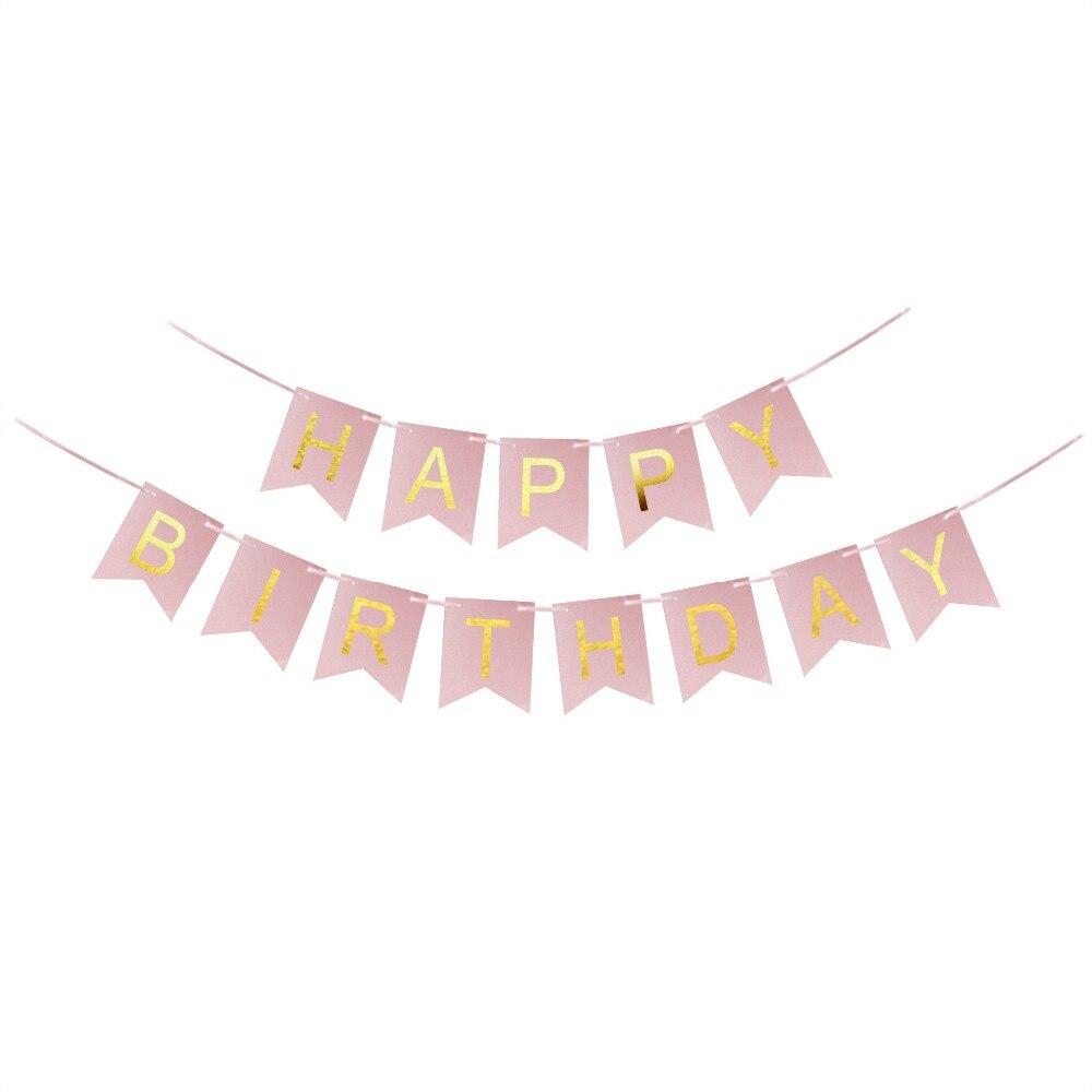 aliexpress com buy diy glitter happy birthday bunting