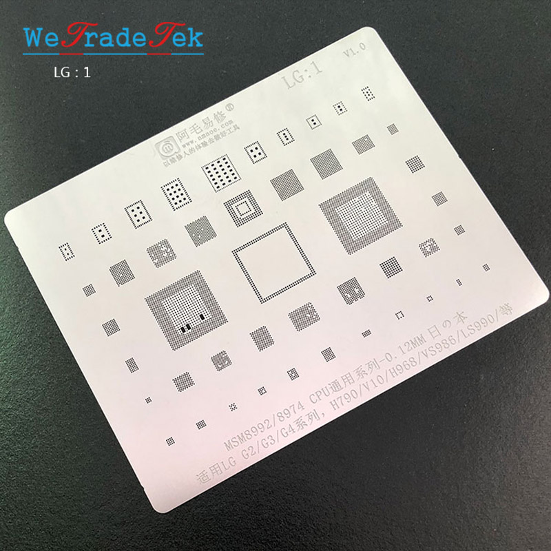 IC Chip BGA Reballing Stencil Kit Solder Template For LG G2 G3 G4 H790 V10 H968 LS990 VS986 MSM8992 8974 CPU Tin Planting Net