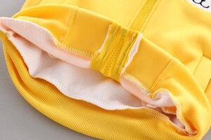 Image 5 - 3 sztuk dziecko dzieci odzież zimowa zestaw słodki kociak noworodka gruba ciepła bawełna ocieplane ubrania dla chłopców dziewcząt kamizelka z kapturem + topy + spodnie