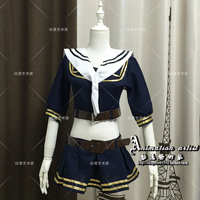 Hot Game TPS cosplay Blade cos JK navy uniform Maid Navy wind game collectio girl uniforms sexy full set (Top+skirt+belt+collar)