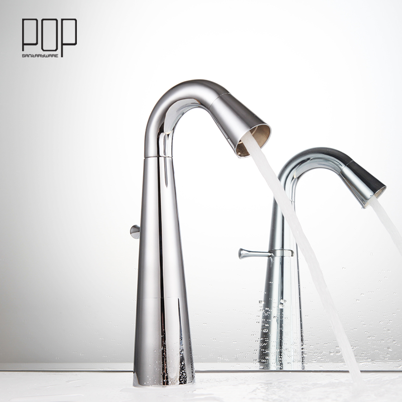 POP Brand New design basin mixer tap, Deck Mounted Single Handle Chrome single hole bathroom faucet tap brand new deck mounted chrome single handle bathroom