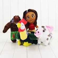 4pcs lot Moana Plush Toys Doll Moana Princess Maui Heihei Pua Plush Toy Soft Stuffed Toy