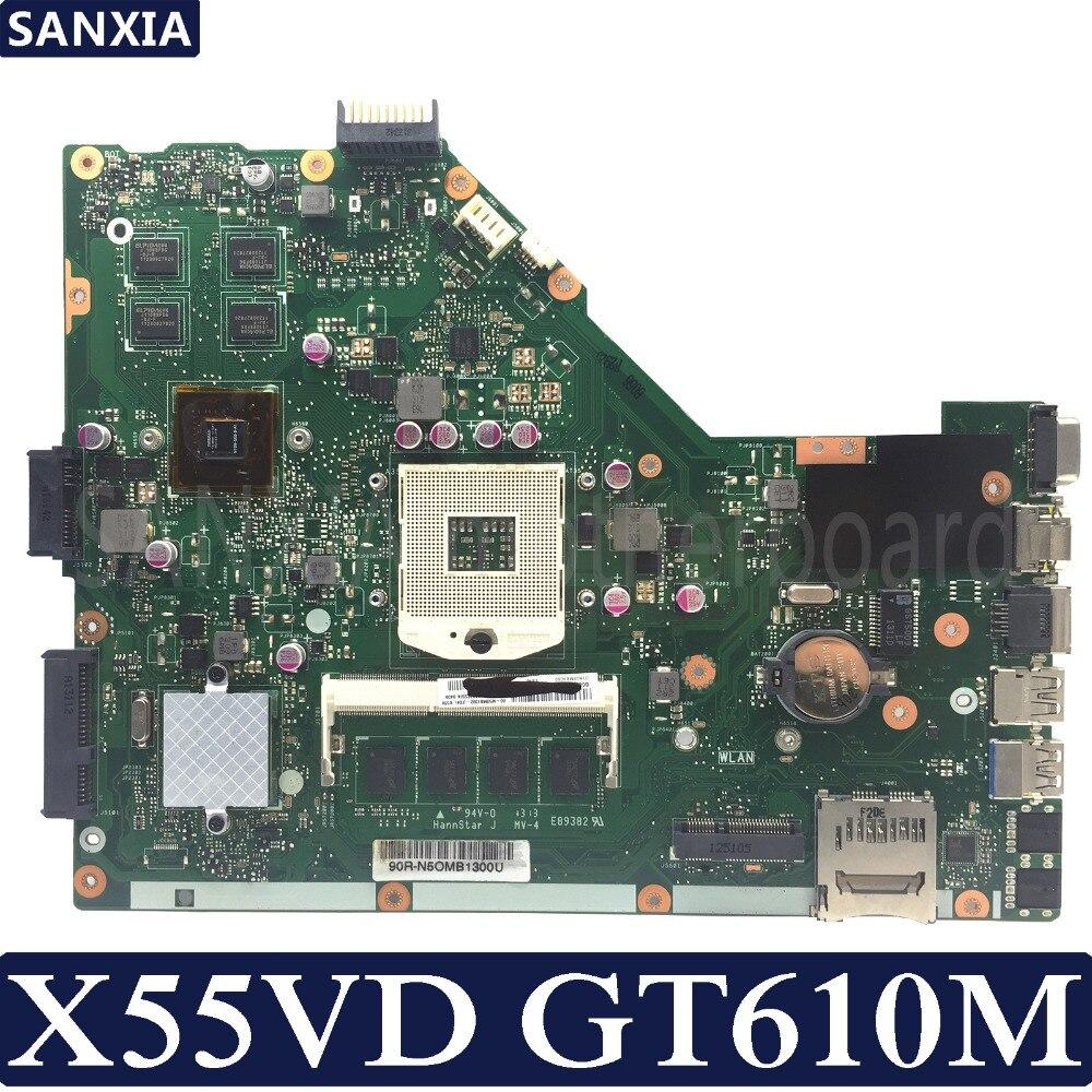 Carte mère d'ordinateur portable KEFU X55VD pour ASUS X55VD X55V X55 Test carte mère originale REV2.1/REV2.2 GT610M