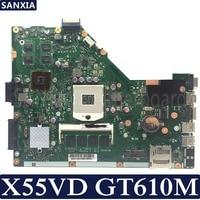 KEFU X55VD Laptop motherboard for ASUS X55VD X55V X55 Test original motherboard REV2.1/REV2.2 GT610M