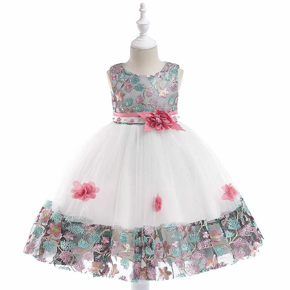 76c3379831 TELOTUNY baby girl Floral Princess party dress gala dresses Bridesmaid  Pageant Gown Birthday Party Wedding Dress Z1024
