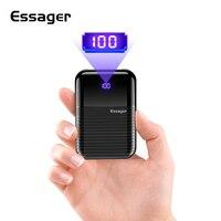 Essager mi ni power Bank 10000 мАч для Xiaomi mi 9 iPhone внешний аккумулятор 10000 мАч портативное зарядное устройство Poverbank 1000 мАч