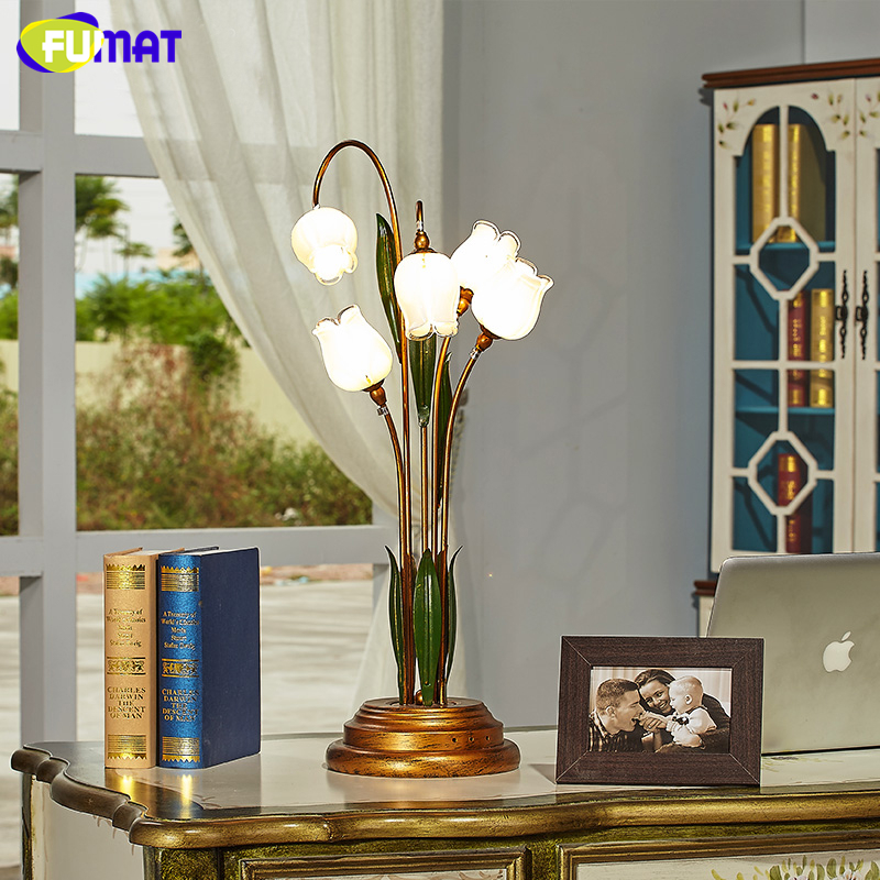 Aliexpress Com Buy Fumat Glass Table Lamp Pastoral