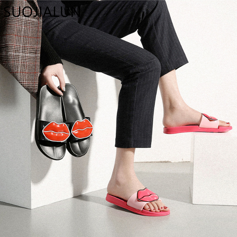 Brand Slippers Women Slides Ladies Shoes Woman Fashion Sandals Summer Beach Women Flip Flops Flat Slides Home Casual in Slippers from Shoes
