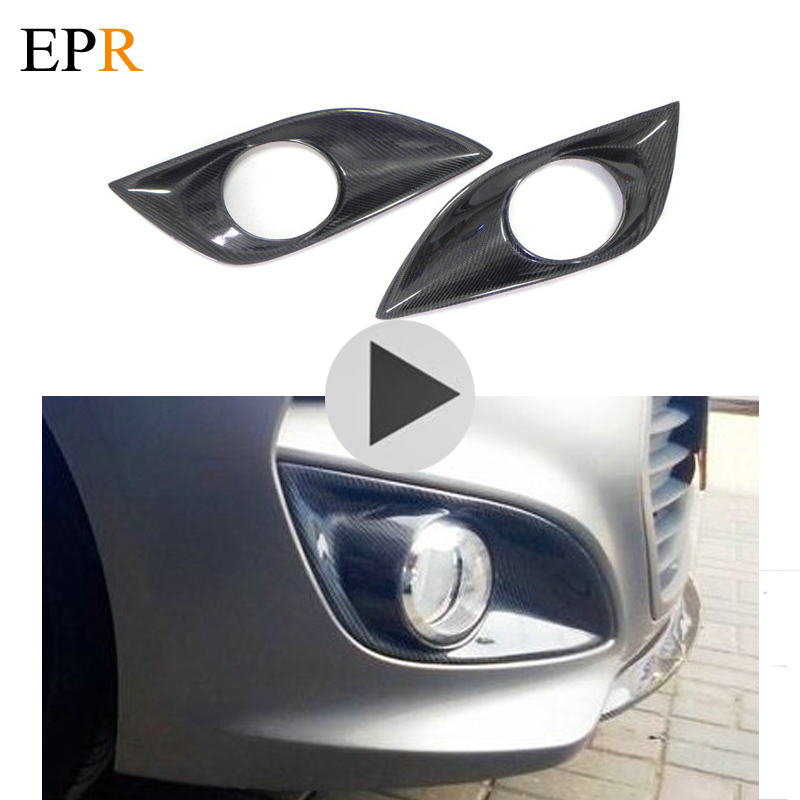 Car Accessories For Veloster Front Fog Light Cover Carbon Fiber Car Styling For Hyundai Veloster Turbo Vented Air Duct Vents