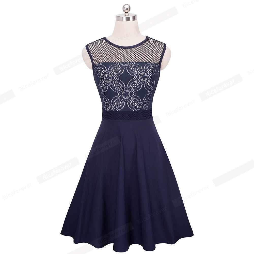 Женское сексуальное летнее Сетчатое платье без рукавов, винтажное пэтчворк с цветочным кружевом струящийся удлиненный Блузон вечерние трапециевидные платья HA078