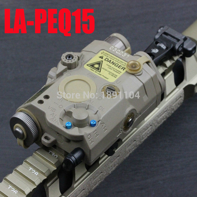 Element LA PEQ 15 LED light with Red Laser and IR Fits for Airsoft Tactical Military