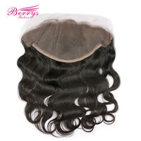 Berrys Fashion Lace Frontal Closure Brazilian Body Wave Human Hair 13x6 Lace Frontal Free Part