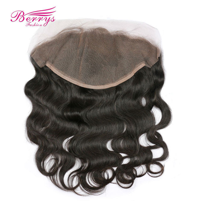 Lace Frontal Closure Brazilian Body Wave Human Hair 13×6 Lace Frontal Free Part Bleached Knots Remy Baby Hair