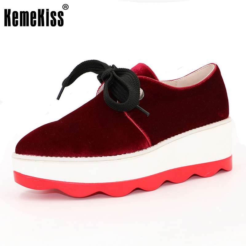 KemeKiss Size 33-42 Women's High Heel Wedge Shoes Women Cross Strap Platform Pumps Round Toe Casual Mixed Color Ladies Footwear plus size 33 42 pointed toe genuine leather buckle mixed colors fashion casual high heel shoes platform high quality women pumps