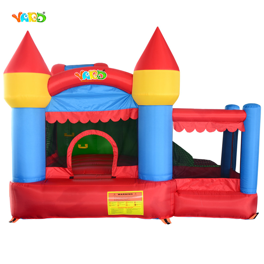 YARD Newest combo slide jumping castle inflatable bouncer house jumper jumping moonwalk with ball pool yard inflatable bouncer house jumping castle with slide and pool for kids dhl free shipping
