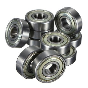 10 Pcs. Ball Bearings Miniature Deep Groove Ball Bearings 608 ZZ 8 X 22 X 7mm Bearing Steel