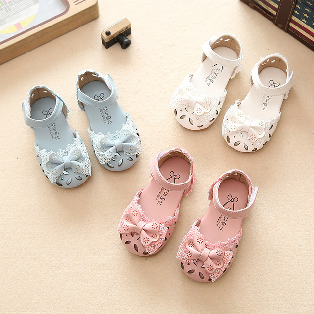 Girls sandals 2017 summer new fashion bow children princess shoes baby shoes  Baotou sandals girls shoes 185b8e96ccc4