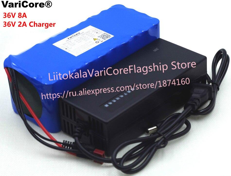 Batterie Rechargeable VariCore 36 V 8Ah 10S4P 18650, changement de vélo, protection de voiture électrique 36 V avec chargeur PCB + 2A