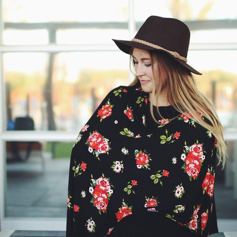 Gewidmet Baby Stillen Mama Euter Covers Pflege Baumwolle Poncho Cover Up Print Schal Decke