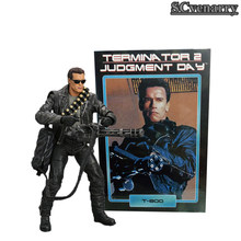 O Dia do juízo final T-800 Arnold Schwarzenegger Brinquedos Boneca PVC Action Figure Collectible Modelo NECA Terminator 2 17 cm(China)