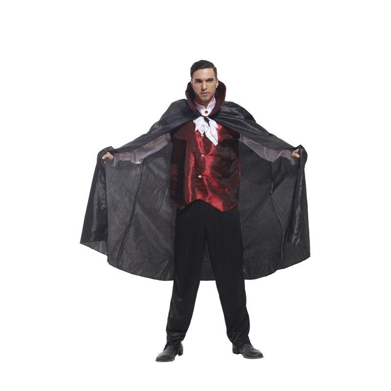 VASHEJIANG men's dracula Vampire Costume Men Adult Halloween Costume Party Clothing Men Devil Cosplay M0104