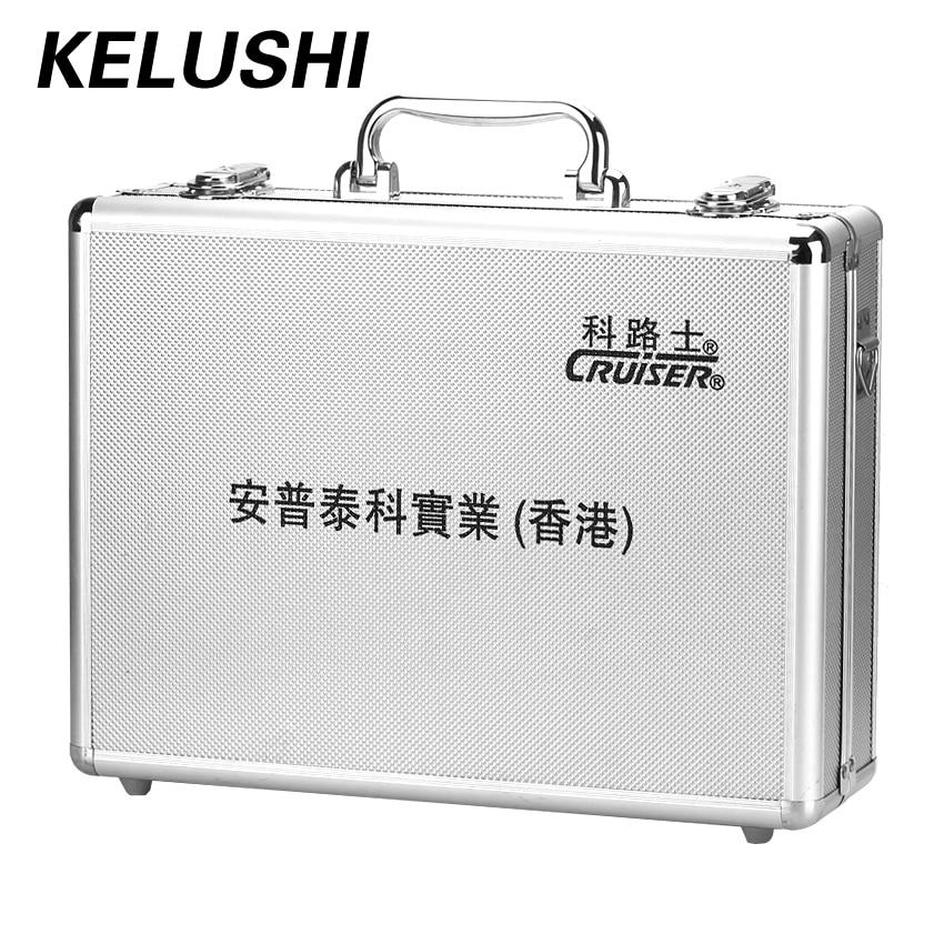 Prix de gros FTTH jonction froide boîte à outils fibre réseau matériel boîte à outils vide en aluminium plaque argent avec haute qualité KELUSHI