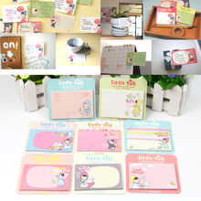 portable 1pc New 30 Sheets Cute Little Talk Girl Sticker Paper Memo Pads Point It Notes