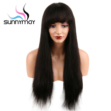Sunnymay Pre Plucked 360 Lace Frontal Wig Straight Brazilian Hair Wigs For Black Women Bleached Knots Swiss Lace Human Hair Wigs
