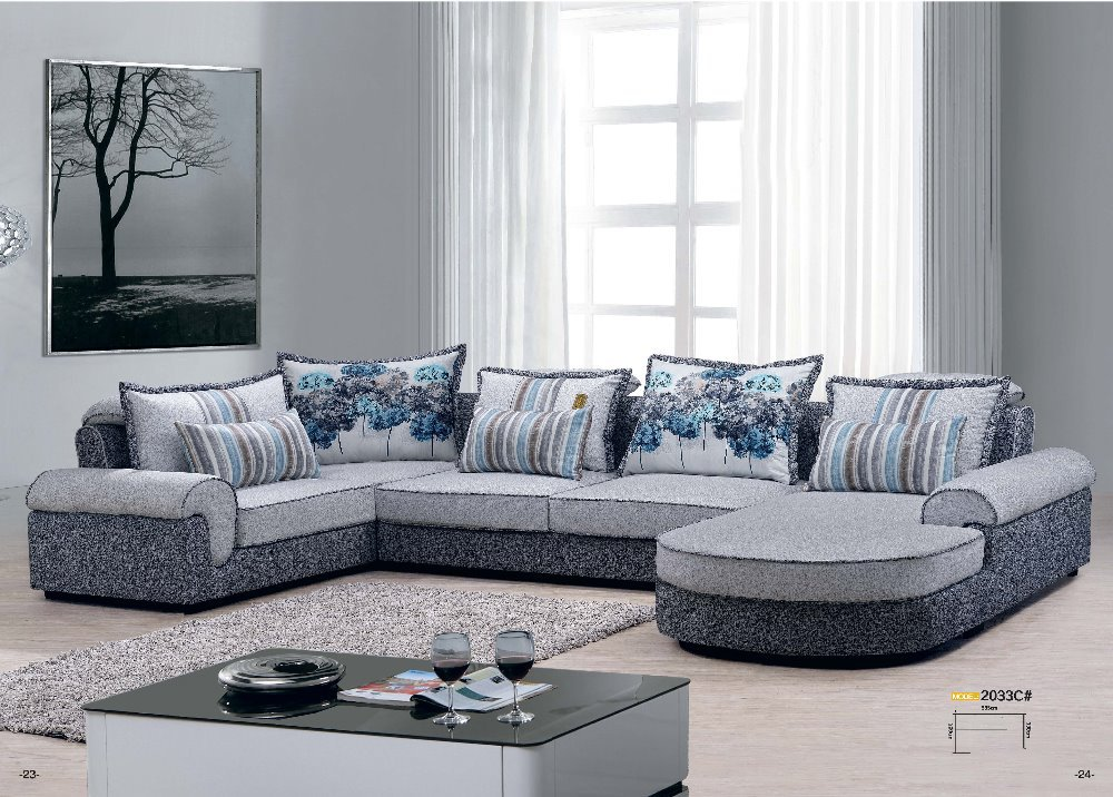 2033c factory price good quality fabric sofa set living