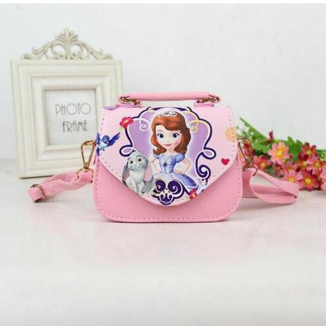 595c0dfc204 US $11.39 31% OFF|Fashion PU Girls Bags Sofia Handbag Girls Accessories  Kids Handbags Children Party princess Messenger bag For Girls-in Crossbody  ...